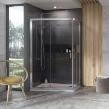 Ravak 10° 10AP4 120x90 cm zuhanykabin, krómhatású + Transparent 0ZVG70C00Z1 kád, zuhanykabin