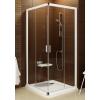 Ravak Blix sarokbelépős zuhanykabin BLRV2K-110 szatén + transparent