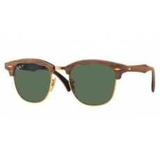 Ray-Ban RB3016M 118158 CLUBMASTER (M) WALNUT RUBBER BLACK POLAR GREEN napszemüveg