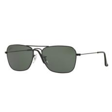 Ray-Ban RB3136 W3338 CARAVAN MATTE BLACK CRYSTAL GREEN napszemüveg