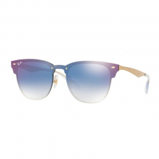 Ray-Ban RB3576N 043/X0 BLAZE CLUBMASTER BRUSHED GOLD CLEAR GRADIENT BLUE MIRROR RED napszemüveg