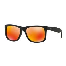 Ray-Ban RB4165 622/6Q JUSTIN RUBBER BLACK BROWN MIRROR ORANGE napszemüveg