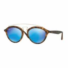 Ray-Ban RB4257 609255 NEW GATSBY II MATTE HAVANA LIGHT GREEN MIRROR BLUE napszemüveg