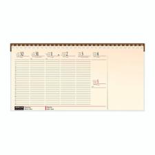 REALSYSTEM Asztali naptár kép nélküli Realsystem fekvő sárga lapos blokktömbös zöld 2020. naptár, kalendárium