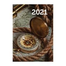 REALSYSTEM Zsebnaptár REALSYSTEM 2 Day B/6 kétnapos álló fehér lapos Térkép 2021. naptár, kalendárium