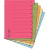 Regiszter, karton, A4, mikroperforált, DONAU, narancssárga 50 db/csomag