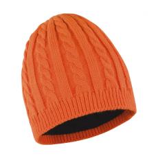 Result Uniszex téli sapka Result Mariner Knitted Hat Egy méret, Burnt Narancssárga/Fekete