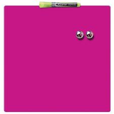 REXEL Üzenőtábla, mágneses, írható, rózsaszín, 36x36 cm, REXEL felírótábla