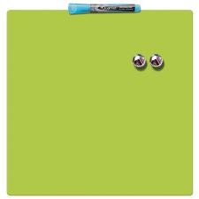 REXEL Üzenőtábla, mágneses, írható, zöld, 36x36 cm, REXEL felírótábla