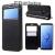 ROAR KOREA notesz / flip tok - FEKETE- oldalra nyíló ablakos flip cover, asztali tartó funkció, belsõ zseb - SAMSUNG SM-G960 Galaxy S9