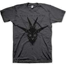 Rock Off Alice in Chains Black Skull Charcoal Mens T Shirt: L