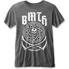 Rock Off BMTH Crooked Young Mens Burnout Charcoal T Shirt: S
