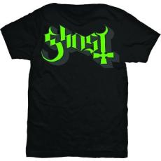 Rock Off Ghost Green Grey Keyline Logo Mens T Shirt: S