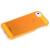 Rock Rock Texture Transparent műanyag hátlaptok Apple iPhone 5, 5S, SE-hez narancs*