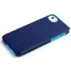 Rock Texture Double műanyag hátlaptok Apple iPhone 5, 5S, SE-hez kék*