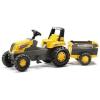 Rolly Toys Pedálos traktor Rolly Junior Farm iparvágány - sárga