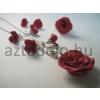 Romantikus piros rózsás ékszerszett