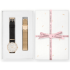 Rosefield Gift Box West Village Gold Black + Gold Mesh Strap WBSMG-X196