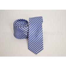 Rossini Prémium slim nyakkendõ - Kék-ezüst csíkos nyakkendő