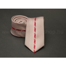 Rossini Prémium slim nyakkendõ - Púder-piros mintás