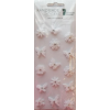 Rössler Papier GmbH and Co. KG Rössler matrica  kézzelkészített  esküvői/ fehér virágok  pillangók (6 lap/csomag)