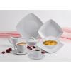 ROTBERG Csemege tányér, porcelán, négyszögletes , 20 cm, ROTBERG,  Quadrate , fehér