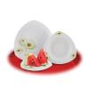 ROTBERG Desszertes tányér, porcelán, 19 cm átmérőjű, ROTBERG, fehér, mákvirág mintával