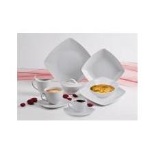 """ROTBERG Desszertes tányér, ROTBERG, fehér, 20cm, 6db-os szett, \""""Quadrate\"""" [6 db] tányér és evőeszköz"""