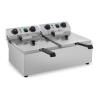ROYAL CATERING Vendéglátóipari fritőz - 2 x 10 liter - időzítő - 230 V