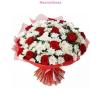 Rózsa és krizantém vegyes virágcsokor