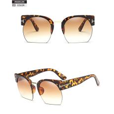 RSSELDN félkeretes dizájner napszemüveg, barna lencsével