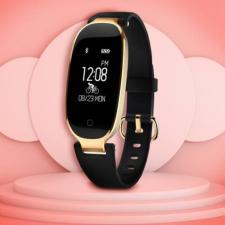 S3 női pulzusmérő okoskarkötő Bluetooth Android/IOS fekete karkötő