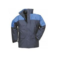 S523 - Oban bélelt kabát - tengerészkék / royal