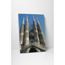 Sagrada Família - Barcelona grafika, keretezett kép