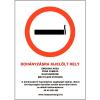 Saját gyártás Dohányzásra kijelölt hely matrica - 16x25cm