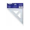 Sakota Háromszög vonalzó, mûanyag, 45°, 16 cm, SAKOTA