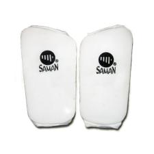 Saman Lábszárvédő, Saman, pamut, szivacs betéttel, fehér, XL méret futball felszerelés