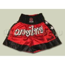Saman Thai-Box nadrág, Saman, polyester, piros boksz és harcművészeti eszköz