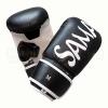 Saman Zsákolókesztyű, Saman, műbőr, fekete/fehér, Smash