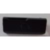 Samsung B550 Galaxy Xcover headsetcsatlakozó takaró fekete*