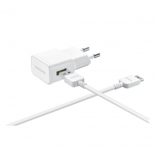 Samsung EP-TA10EWE hálózati töltő adapter + ET-DQ11 microUSB 3.0 kábel, 5V/2A, fehér, gyári csomagolás nélkül