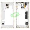 Samsung G800F Galaxy S5 mini arany gyári bontott középkeret töltőcsatlakozó szalagkábellel