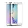 Samsung G925 Galaxy S6 Edge 3D hajlított előlapi üvegfólia fehér