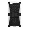 Samsung Galaxy A3 (2017) SM-A320F, Műanyag hátlap védőtok, ütésálló, kitámasztóval, Forcell Panzer Case, fekete/fehér