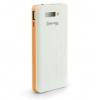 Samsung Galaxy Grand Prime SM-G530, Oldalra nyíló tok, hívás mutatóval, Mercury Wow, textilminta, szürke