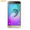 Samsung Galaxy J3 SM-J320, Kijelzővédő fólia, ütésálló fólia (az íves részre NEM hajlik rá!), Tempered Glass (edzett üveg), Enkay, Clear