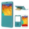 Samsung Galaxy Note 3 N9000, Oldalra nyíló tok, hívás mutatóval, T-Cases, világoskék