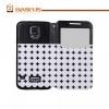 Samsung Galaxy S5 SM-G900, Oldalra nyíló tok, stand, hívás mutatóval, Baseus Tokyo, körmintás, fekete/fehér