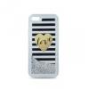 Samsung Galaxy S6 SM-G920, TPU szilikon tok, Love minta, Liquid Glitter, ezüst/átlátszó