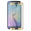 Samsung Galaxy S7 Edge SM-G935, Kijelzővédő fólia, ütésálló fólia, Tempered Glass (edzett üveg), hajlított, arany